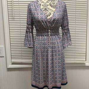 NWT Max Edition Surplice Bell Sleeve Dress Large
